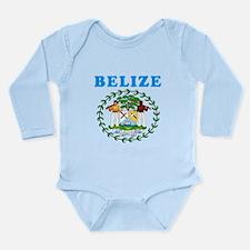 Belize Coat Of Arms Designs Long Sleeve Infant Bod