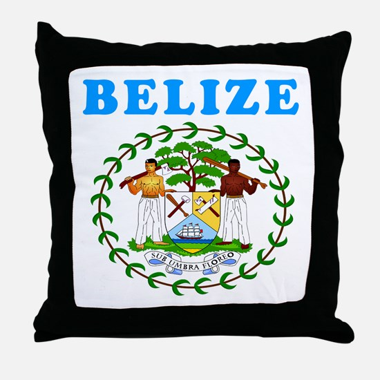 Belize Coat Of Arms Designs Throw Pillow