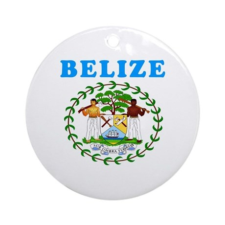 Belize Coat Of Arms Designs Ornament (Round) by majortees