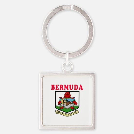 Bermuda Coat Of Arms Designs Square Keychain