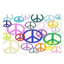 Peace Sign Collage Postcards (Package of 8)