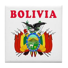 Bolivia Coat Of Arms Designs Tile Coaster