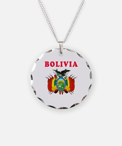 Bolivia Coat Of Arms Designs Necklace