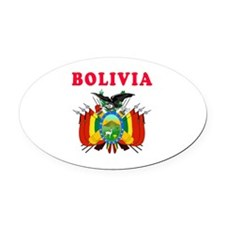 Bolivia Coat Of Arms Designs Oval Car Magnet