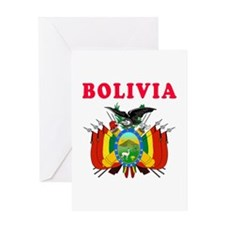 Bolivia Coat Of Arms Designs Greeting Card