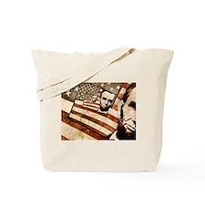 President Abraham Lincoln Patriotic Flag Tote Bag