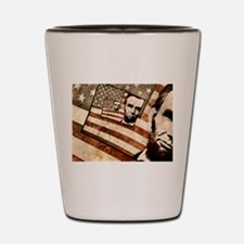 President Abraham Lincoln Patriotic Flag Shot Glas