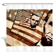 President Abraham Lincoln Patriotic Flag Shower Cu