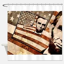 President Abraham Lincoln Patriotic Flag Shower Cu
