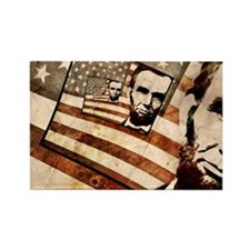 President Abraham Lincoln Patriotic Flag Rectangle