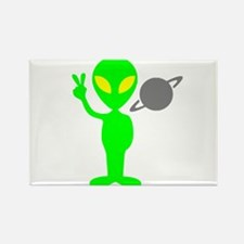 Space Alien Rectangle Magnet (10 pack)