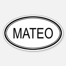 Mateo Oval Design Oval Decal