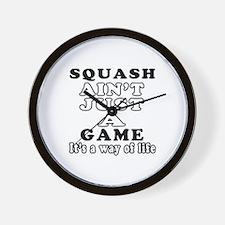 Squash ain't just a game Wall Clock