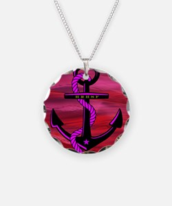 Anchors Away Ocean Badge Necklace