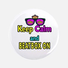 """Crown Sunglasses Keep Calm And Beatbox On 3.5"""" But"""