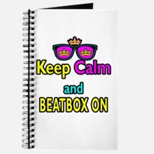Crown Sunglasses Keep Calm And Beatbox On Journal