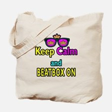 Crown Sunglasses Keep Calm And Beatbox On Tote Bag