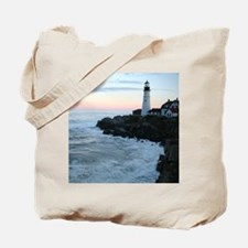 Portland Head Lighthouse at Sunset Tote Bag