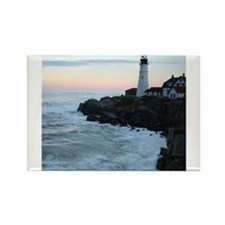 Portland Head Lighthouse at Sunset Rectangle Magne