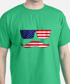 Cool mustache patriot T-Shirt