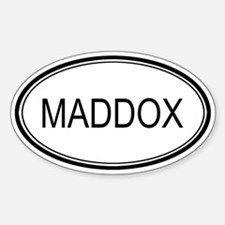Maddox Oval Design Oval Decal