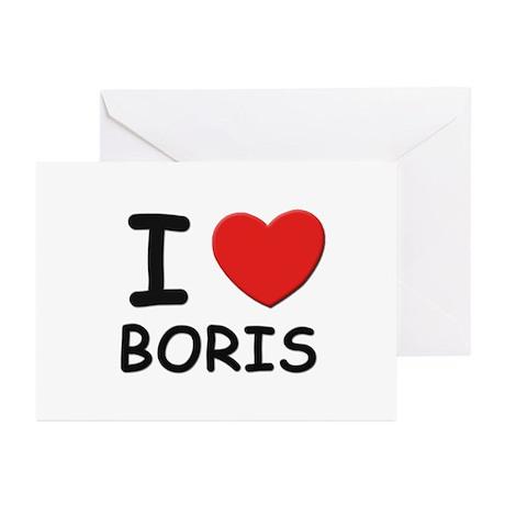 I love Boris Greeting Cards (Pk of 10)