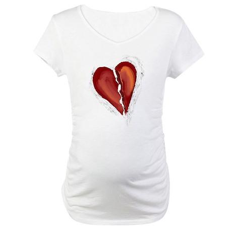 Broken Heart Maternity T-Shirt