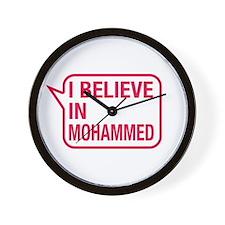 I Believe In Mohammed Wall Clock
