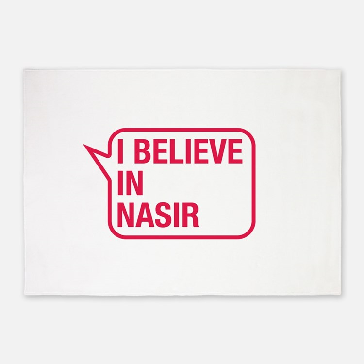I Believe In Nasir 5'x7'Area Rug