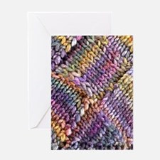 Entrelac Knit Pattern Blank Greeting Card