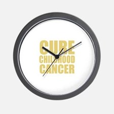 CURE CHILDHOOD CANCER Wall Clock