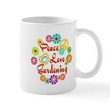 Peace Love Gardening Small Mugs