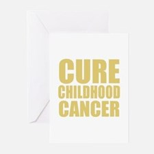 CURE CHILDHOOD CANCER Greeting Cards (Pk of 10