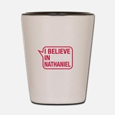 I Believe In Nathaniel Shot Glass