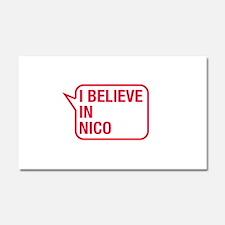 I Believe In Nico Car Magnet 20 x 12