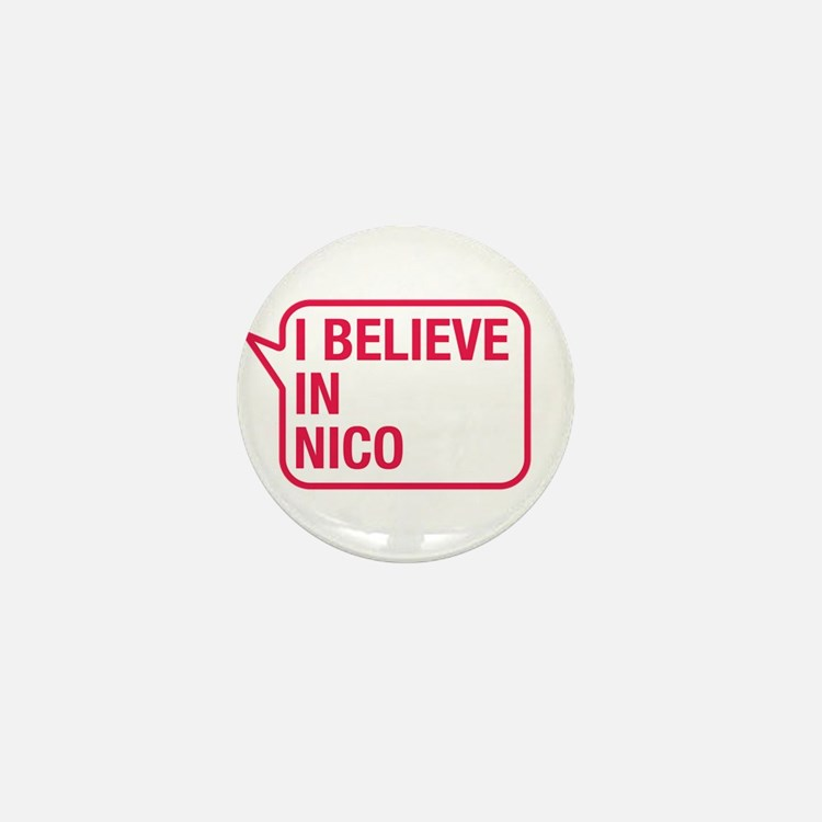I Believe In Nico Mini Button