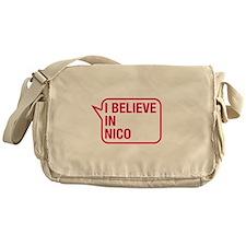 I Believe In Nico Messenger Bag