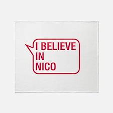 I Believe In Nico Throw Blanket