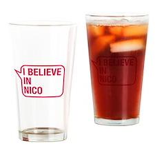 I Believe In Nico Drinking Glass