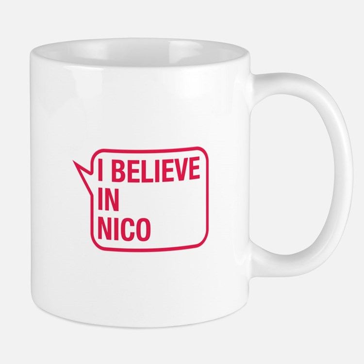 I Believe In Nico Small Mugs
