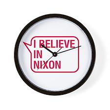 I Believe In Nixon Wall Clock