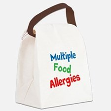Multiple Food Allergies Canvas Lunch Bag