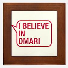 I Believe In Omari Framed Tile