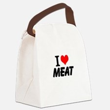I Love Meat Canvas Lunch Bag