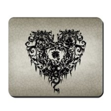 Ornate Gothic Heart Mousepad