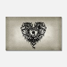 Ornate Gothic Heart Car Magnet 20 x 12