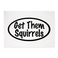 Get Them Squirrels 5'x7'Area Rug