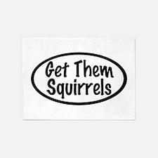 Get Them Squirrels 5'x7'Area Rug