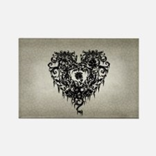 Ornate Gothic Heart Rectangle Magnet