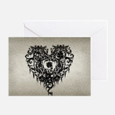Ornate Gothic Heart Greeting Card